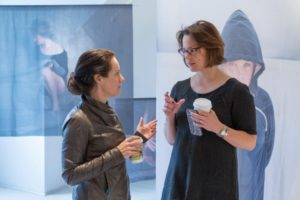 MFA faculty Cig Harvey and candidate Anna LaBenz